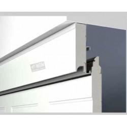 Cartella a doppia parete per il montaggio  in luce quale grande compensazione verso  il soffitto