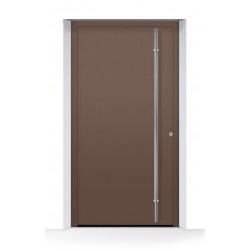 Porta d'ingresso THERMOSAFE CH 607, color castagna in alluminio