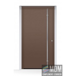 Porta d'ingresso THERMOSAFE (2019) CH 607, color castagna in alluminio