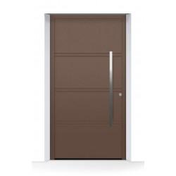 Porta d'ingresso THERMOSAFE (2020) CH 607, color castagna in alluminio