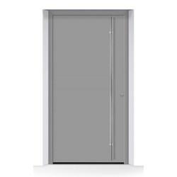 Portone di entrata THERMOSAFE RAL9007, struttura fine opaca, grigio