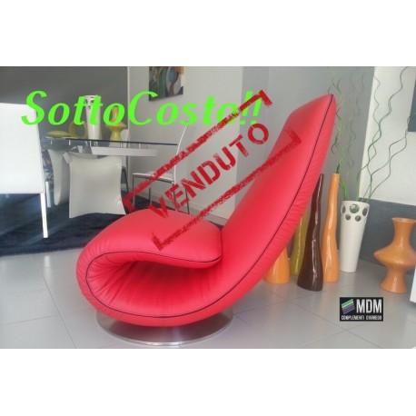 Poltrona chaise longue mod.RICCIOLO(T7875) Rossa di Tonin Casa
