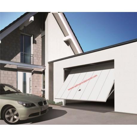Porta basculante Berry mod. N80 Motivo 984 Pannello verticale in acciaio (sempre 7 strisce) Hörmann