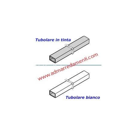 Spalletta Tubolare Bianco Ral 9016  da 100 x 50 x 2mm fino a H-3000