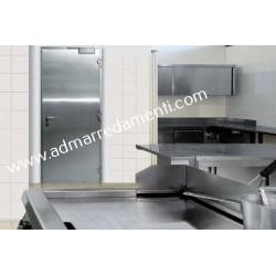 Porta Tagliafuoco Antincendio New Idra Dierre Ei120 con telaio standard su 3 lati a Z colore avorio