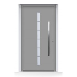 Porta d'ingresso ThermoCarbon (2020) ral 9007 alluminio grigiastro struttura fine opaca Hormann