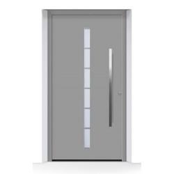 Porta d'ingresso ThermoCarbon (2019) ral 9007 alluminio grigiastro struttura fine opaca Hormann