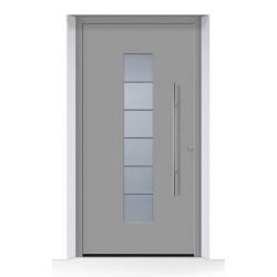 Porta d'ingresso ThermoCarbon (2018) ral 9007 alluminio grigiastro struttura fine opaca Hormann