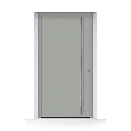 Motivo 860 Porta d'ingresso ThermoCarbon ral 7030 grigio pietra struttura fine opaca  Hormann