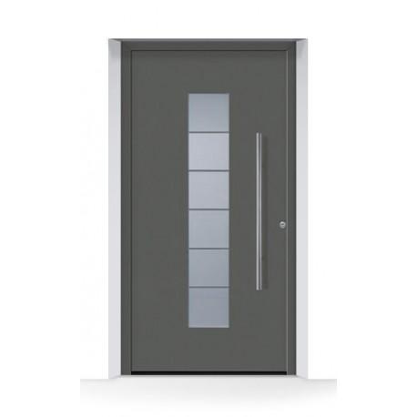 Motivo 504 Porta d'ingresso ThermoCarbon ch703 ruvida e opaca Hormann