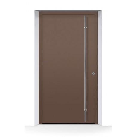 Motivo 860 Porta d'ingresso ThermoCarbon ch607 ruvida e opaca Hormann