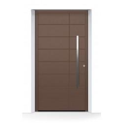 Motivo 862 Porta d'ingresso ThermoCarbon ch607 ruvida e opaca Hormann