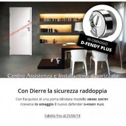 Porta Blindata Dierre SENTRY 1 D.B. ( 2 ante ) in omaggio con nuovo cilindro D-FENDY PLUS