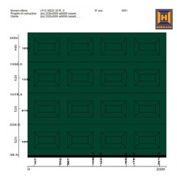 Portone sezionale da garage Hörmann LPU42  2320x2050  RAL 6005 A CASSETTONI S