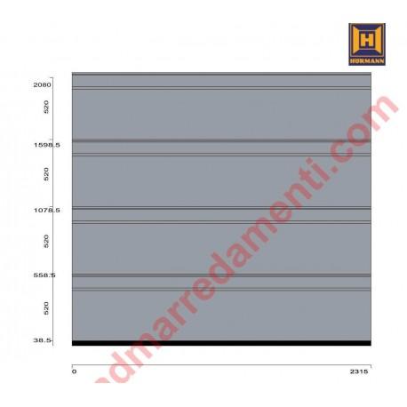 Portone sezionale da garage HörmannLPU42 Z con greca-D Silkgrain RAL 7040 grigio