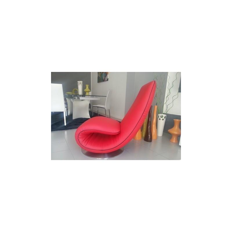 poltrona chaise longue mod ricciolo t7875 rossa di tonin casa t7875. Black Bedroom Furniture Sets. Home Design Ideas