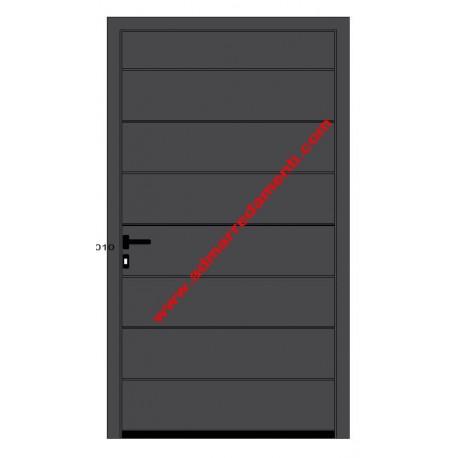 Porta pedonale laterale per garage Hörmann 1200x2150 DIN sx  COLORE CH703