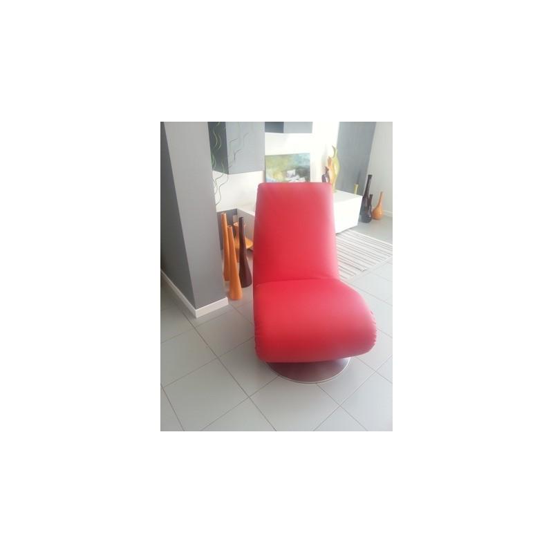 Poltrona chaise longue mod ricciolo t7875 rossa di tonin casa t7875 - Poltrone ricci casa ...