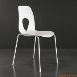 Sedie sedia modello HOLE bianca (T7207) impilabile Tonin Casa