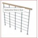 Balaustra kloè modulo componibile da 120cm, composto da 5 colonnine, cavi corrimano e fissaggi.