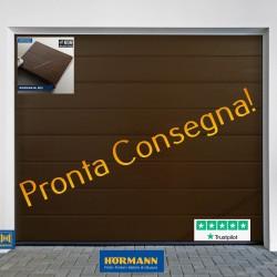 Porta sezionale RENOMATIC Marrone Terra Ral 8028 L-2500 H- 2250 PRONTA CONSEGNA