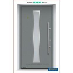 Portoncino ingresso THERMO65 colore CH907 grigio alluminio Hormann