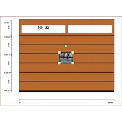 Portone da garage LPU42 su misura L-2500 H-1890 c/finestre Greca M DECOGRAIN GOLDEN OAK