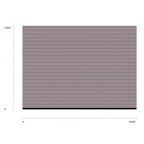 Serranda da garage ral.9007 grigio allum.scorrevole a soffitto RollMatic OD Inclusa motoriz. laterale ProMatic