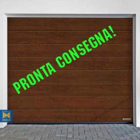 Portone PRONTA CONSEGNA L-3000-2500 sezionale garage Hörmann TINTA LEGNO DARK OAK