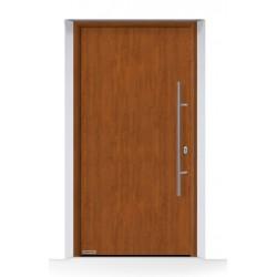 Portone THERMO65 acciaio-alluminio Decograin Golden Oak Hormann