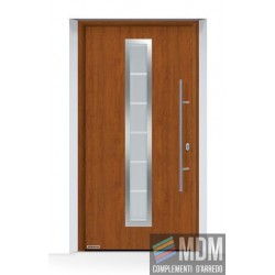Portone THERMO65 (2019) acciaio-alluminio Decograin Golden Oak Hormann