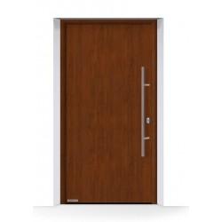 Porta THERMO65 acciaio-alluminio Decograin Dark Oak Hormann