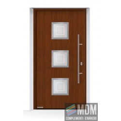 Porta d'ingresso THERMO65 (2018) in acciaio/alluminio Decograin Dark Oak Hormann