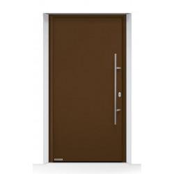 Portone d'ingresso THERMO65 acciaio/alluminio Marrone Terra Ral 8028 Hormann