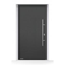 Portoncino ingresso THERMO65 acciaio e alluminio Antracite Metallic CH703 Hormann