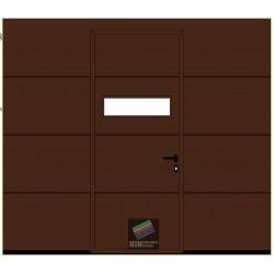 Portone da garage LPU42 su misura 2600 X 2250 Grecatura L,con porta e  finestratura MOD.LPU42