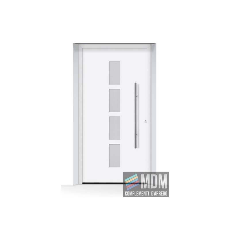 Porta d 39 ingresso thermosafe bianco traffico ral 9016 in for Mdm complementi d arredo