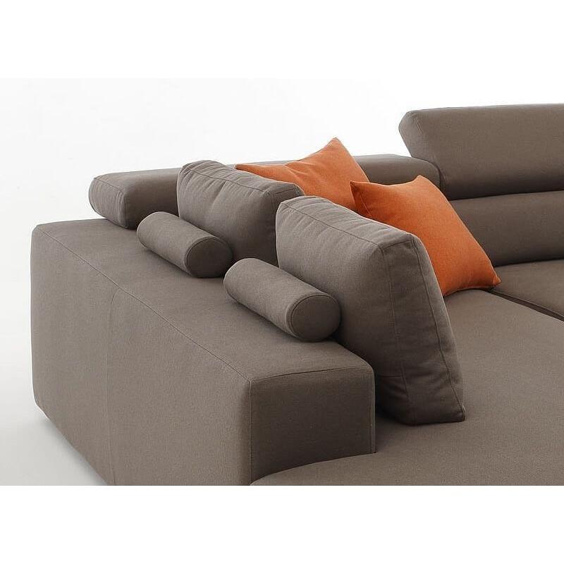 Divano moderno paloma 3 posti maxi chaise longue sx di - Divano chaise longue estraibile ...