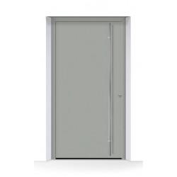 Portone THERMOSAFE (2020) RAL 7030, struttura fine opaca, grigio pietra