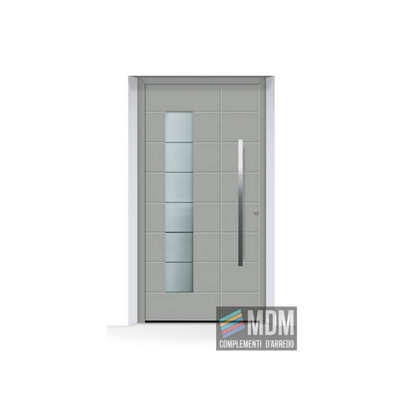 Porta d 39 ingresso thermosafe ral 7030 grigio pietra for Mdm complementi d arredo