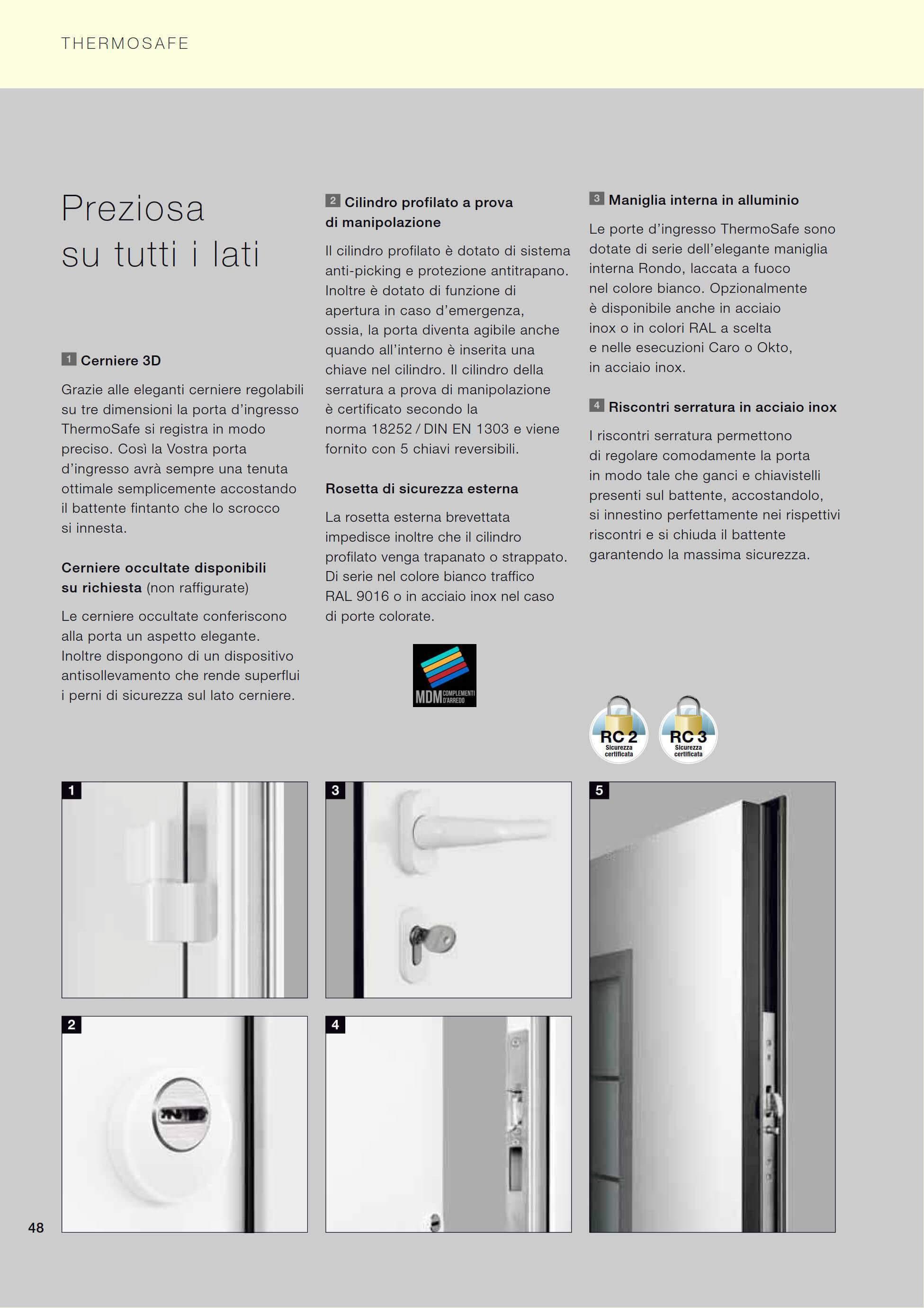 Porta d 39 ingresso thermosafe 2018 ral 7016 grigio antracite - Cambiare serratura porta ingresso ...