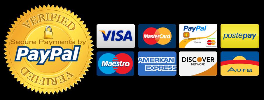NEGOZIO VERIFICATO Pagamenti SICURI con programma di Protezione sugli acquisti.