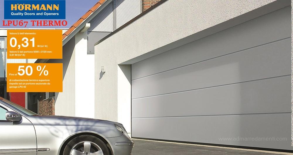 Pregi e funzioni dei portoni Sezionali per garage.